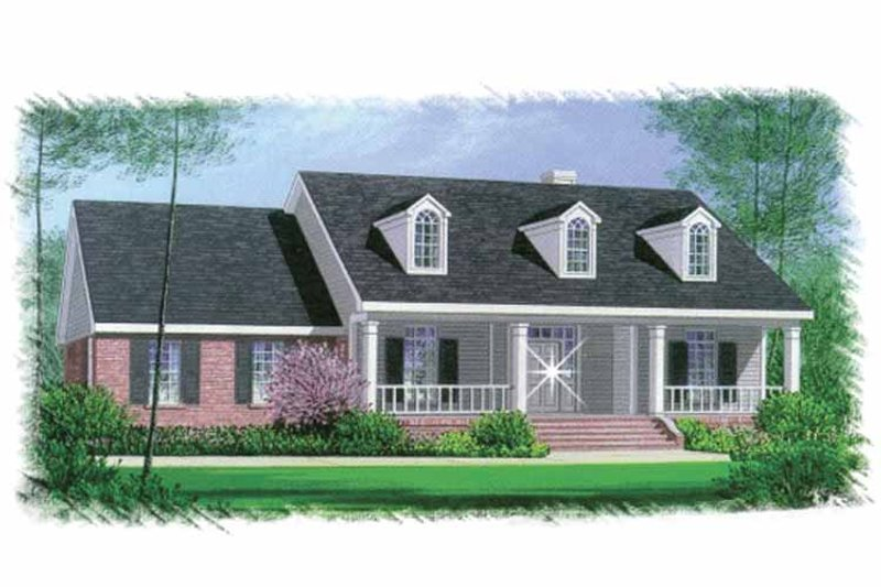 Colonial Exterior - Front Elevation Plan #15-327