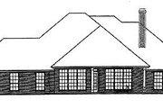 European Style House Plan - 4 Beds 3 Baths 2215 Sq/Ft Plan #310-406 Exterior - Rear Elevation