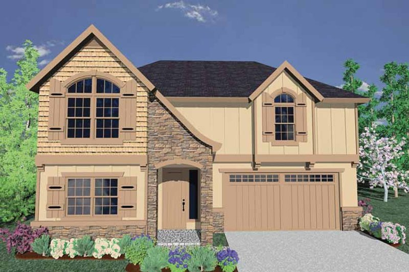 Traditional Exterior - Front Elevation Plan #509-285 - Houseplans.com