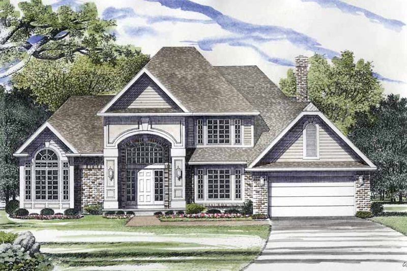 Traditional Exterior - Front Elevation Plan #316-214 - Houseplans.com