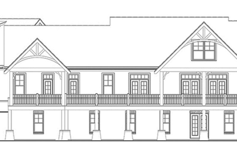 Craftsman Exterior - Rear Elevation Plan #119-426 - Houseplans.com