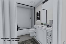 Architectural House Design - Opt. Finished Basement Bath