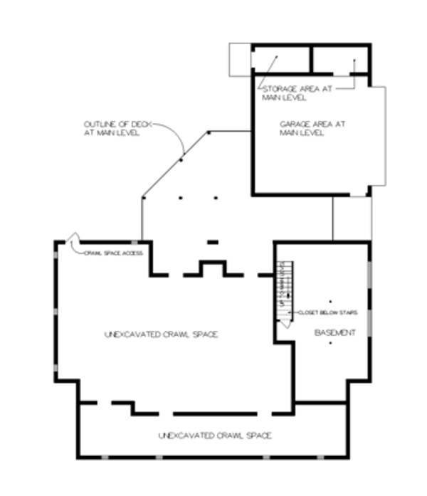 Victorian Floor Plan - Lower Floor Plan Plan #45-467