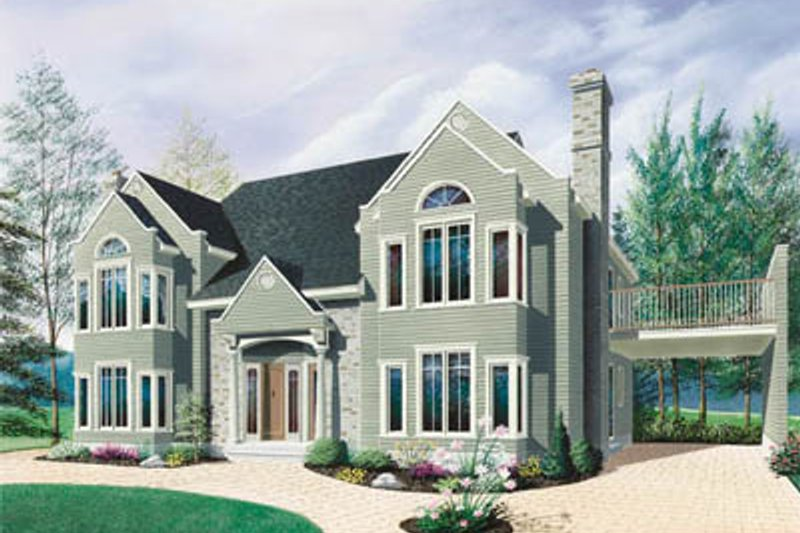 Architectural House Design - Traditional Exterior - Front Elevation Plan #23-2153
