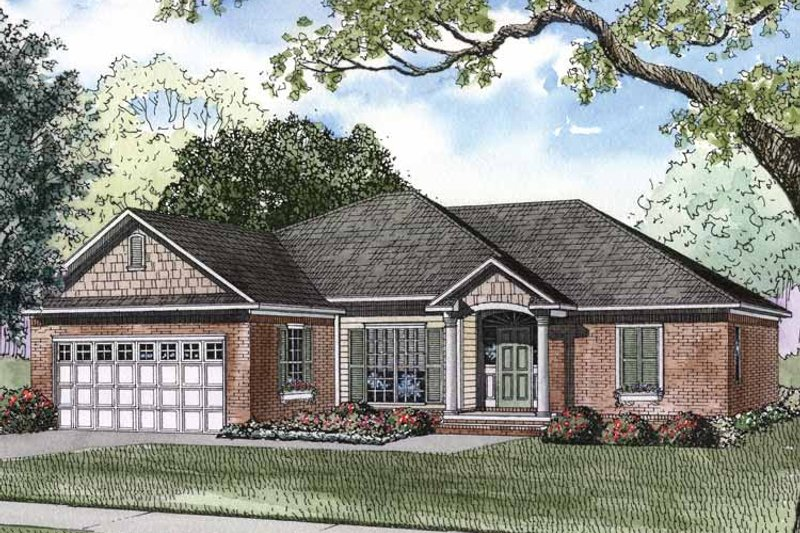 Traditional Exterior - Front Elevation Plan #17-2894 - Houseplans.com