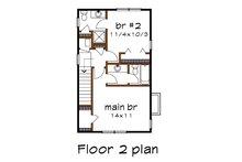 Colonial Floor Plan - Upper Floor Plan Plan #79-133