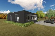Modern Style House Plan - 1 Beds 1 Baths 681 Sq/Ft Plan #549-7 Exterior - Other Elevation