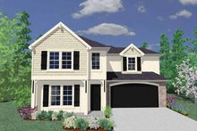Country Exterior - Front Elevation Plan #509-268