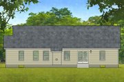 Ranch Style House Plan - 2 Beds 2 Baths 1588 Sq/Ft Plan #1010-4 Exterior - Rear Elevation