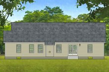 Ranch Exterior - Rear Elevation Plan #1010-4