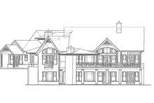 House Plan Design - Craftsman Exterior - Rear Elevation Plan #54-375
