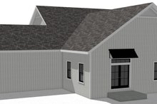 Craftsman Exterior - Rear Elevation Plan #44-235