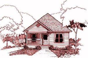 Cottage Exterior - Front Elevation Plan #79-110