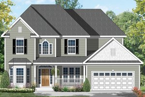 Dream House Plan - Colonial Exterior - Front Elevation Plan #1053-64