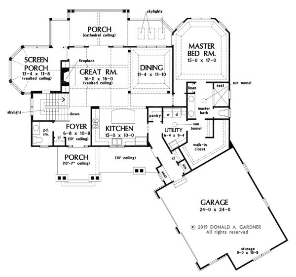 Craftsman Floor Plan - Main Floor Plan #929-1103
