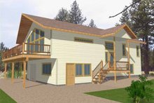 Architectural House Design - European Exterior - Front Elevation Plan #117-818
