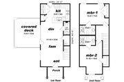Contemporary Style House Plan - 2 Beds 2.5 Baths 1136 Sq/Ft Plan #932-134 Floor Plan - Main Floor