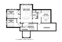 Ranch Floor Plan - Upper Floor Plan Plan #928-283