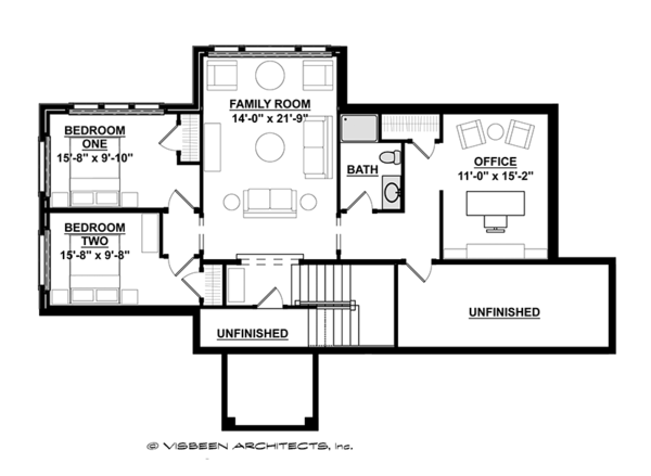 Ranch Floor Plan - Upper Floor Plan Plan #928-283