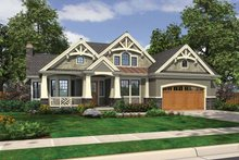 Dream House Plan - Craftsman Exterior - Front Elevation Plan #132-546