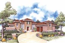 House Plan Design - Mediterranean Exterior - Front Elevation Plan #930-55