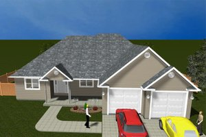 Architectural House Design - Ranch Exterior - Front Elevation Plan #1060-10