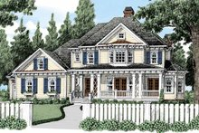 Classical Exterior - Front Elevation Plan #927-483