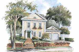 Classical Exterior - Front Elevation Plan #429-242