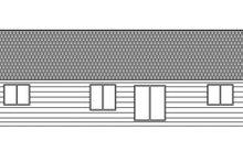 Craftsman Exterior - Rear Elevation Plan #943-45