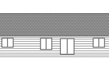 Craftsman Exterior - Rear Elevation Plan #943-45