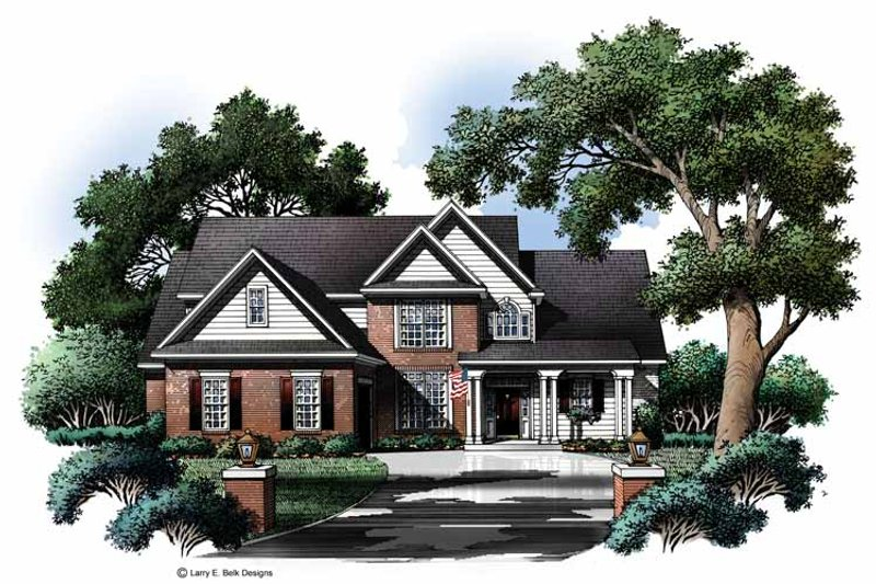 Colonial Exterior - Front Elevation Plan #952-211