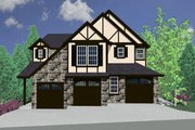 Tudor Style House Plan - 2 Beds 2 Baths 5051 Sq/Ft Plan #509-19 Exterior - Front Elevation