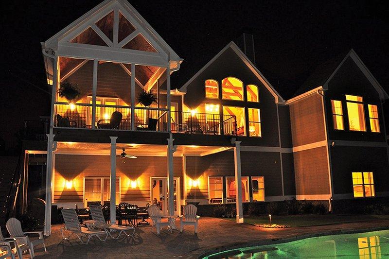 House Plan Design - Craftsman Exterior - Rear Elevation Plan #437-69