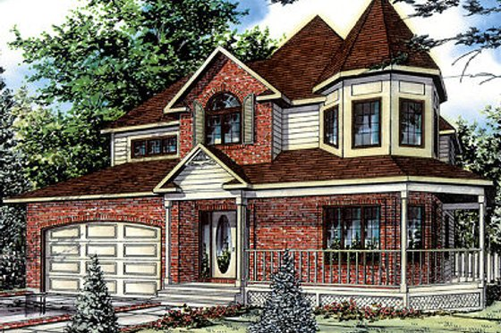 Victorian Exterior - Front Elevation Plan #138-196