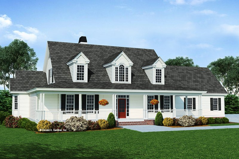 Country Exterior - Front Elevation Plan #929-791