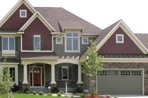 Dream House Plan - Craftsman Exterior - Front Elevation Plan #320-997
