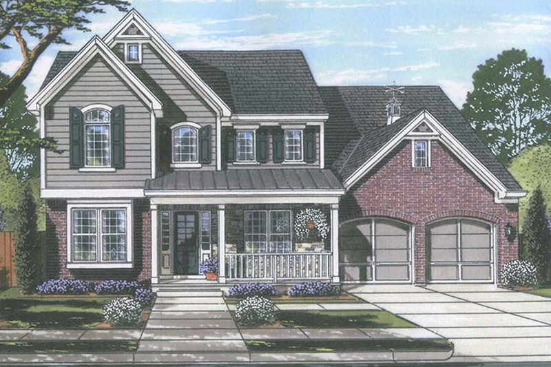 Colonial Exterior - Front Elevation Plan #46-860