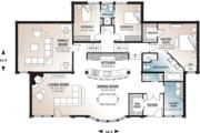 Beach Style House Plan - 3 Beds 2.5 Baths 2527 Sq/Ft Plan #23-1031 Floor Plan - Main Floor Plan