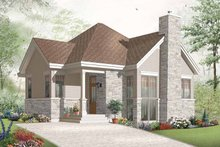 Country Exterior - Front Elevation Plan #23-2389