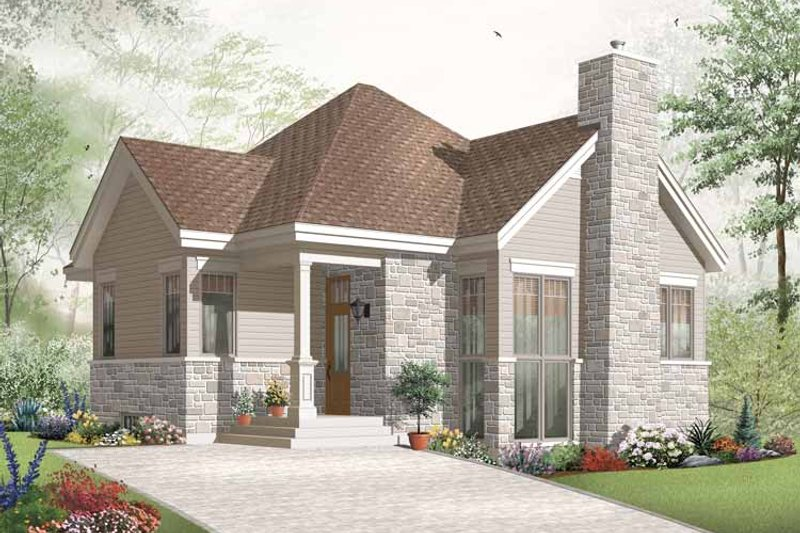 House Plan Design - Country Exterior - Front Elevation Plan #23-2389