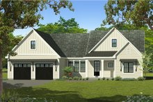 Ranch Exterior - Front Elevation Plan #1010-242