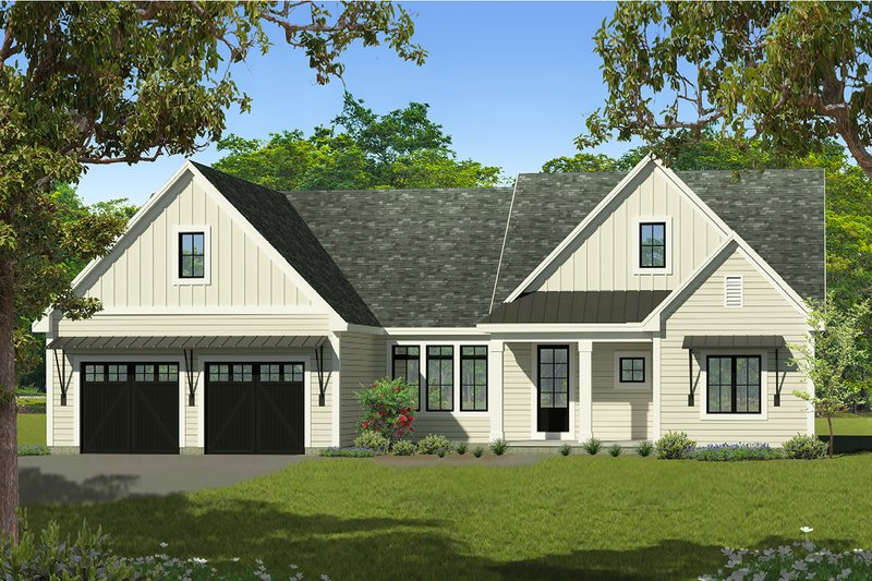 Architectural House Design - Ranch Exterior - Front Elevation Plan #1010-242