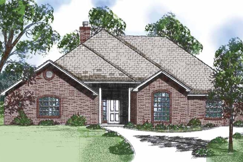 Country Exterior - Front Elevation Plan #52-255