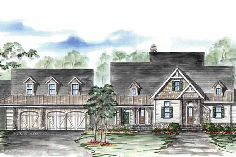 Country Exterior - Front Elevation Plan #54-316