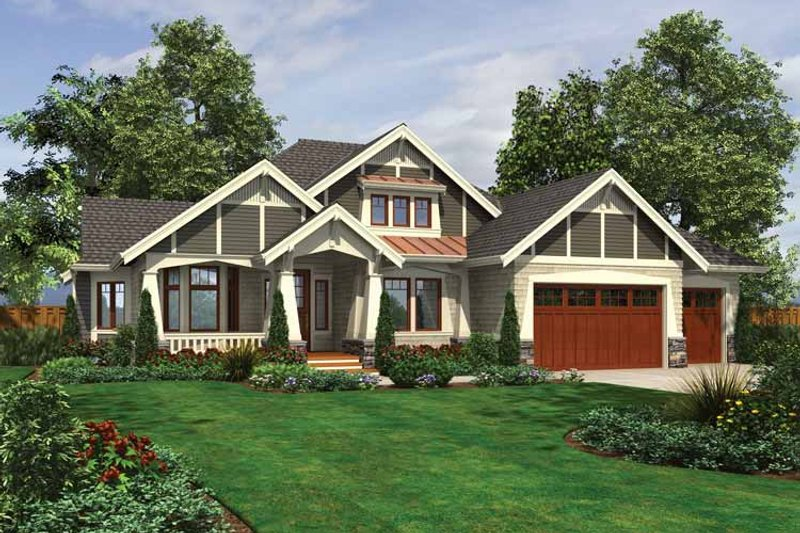 Ranch Exterior - Front Elevation Plan #132-534 - Houseplans.com
