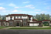 Mediterranean Style House Plan - 8 Beds 6.5 Baths 7174 Sq/Ft Plan #1058-151 Exterior - Front Elevation