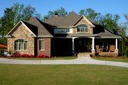 European Style House Plan - 3 Beds 3.5 Baths 4671 Sq/Ft Plan #437-51 Exterior - Front Elevation