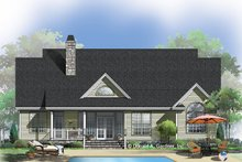 Country Exterior - Rear Elevation Plan #929-534