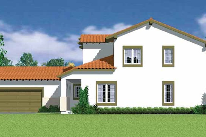 House Plan Design - Mediterranean Exterior - Front Elevation Plan #72-1119
