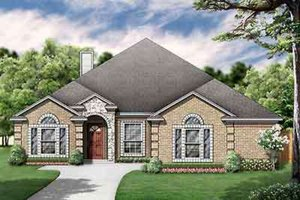 Dream House Plan - European Exterior - Front Elevation Plan #84-232